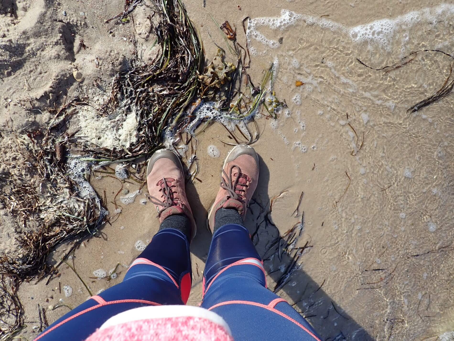 Wandern bei Holnis_am Strand