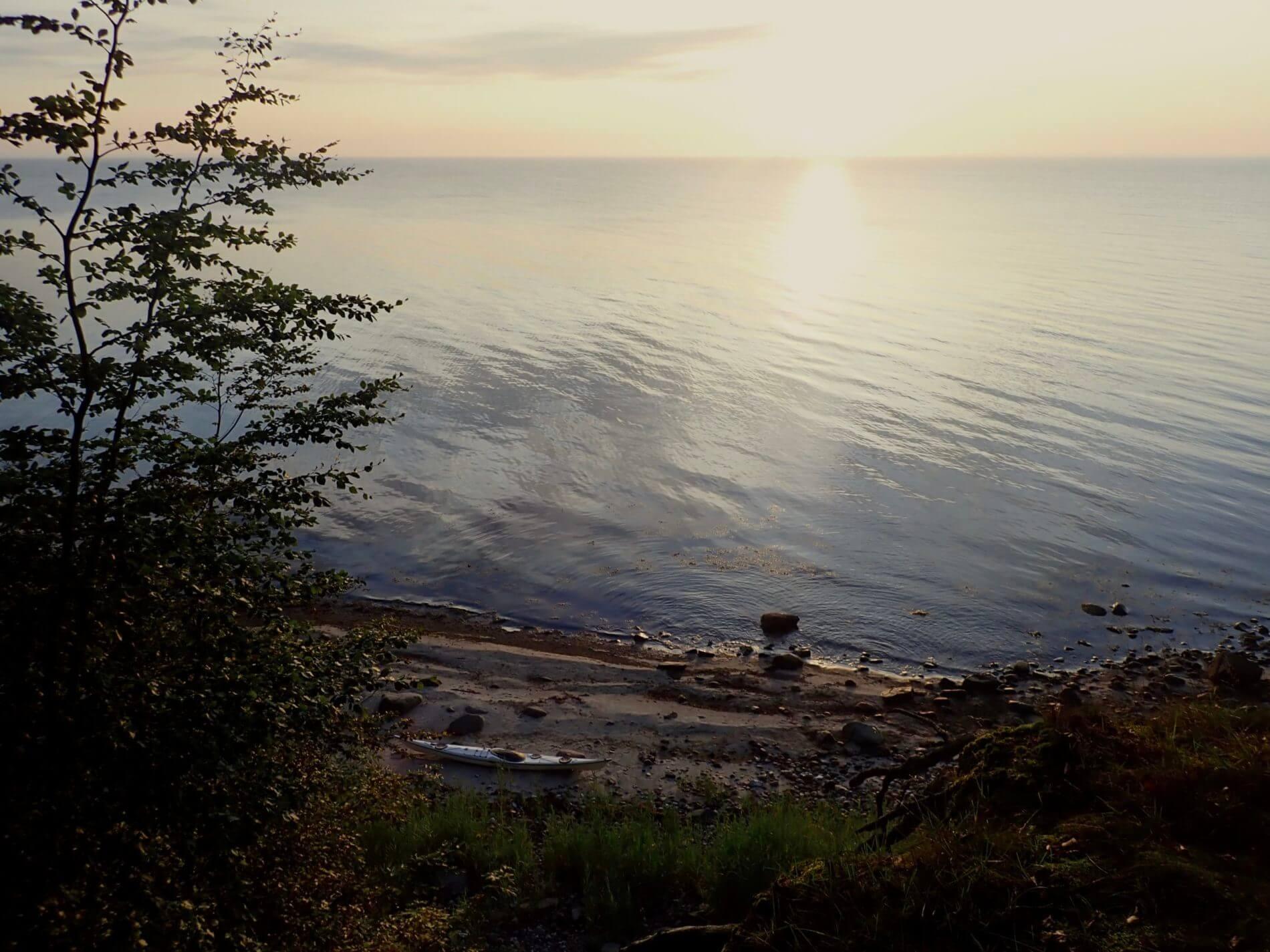 Mit dem Kajak um Alsen_Steilküste