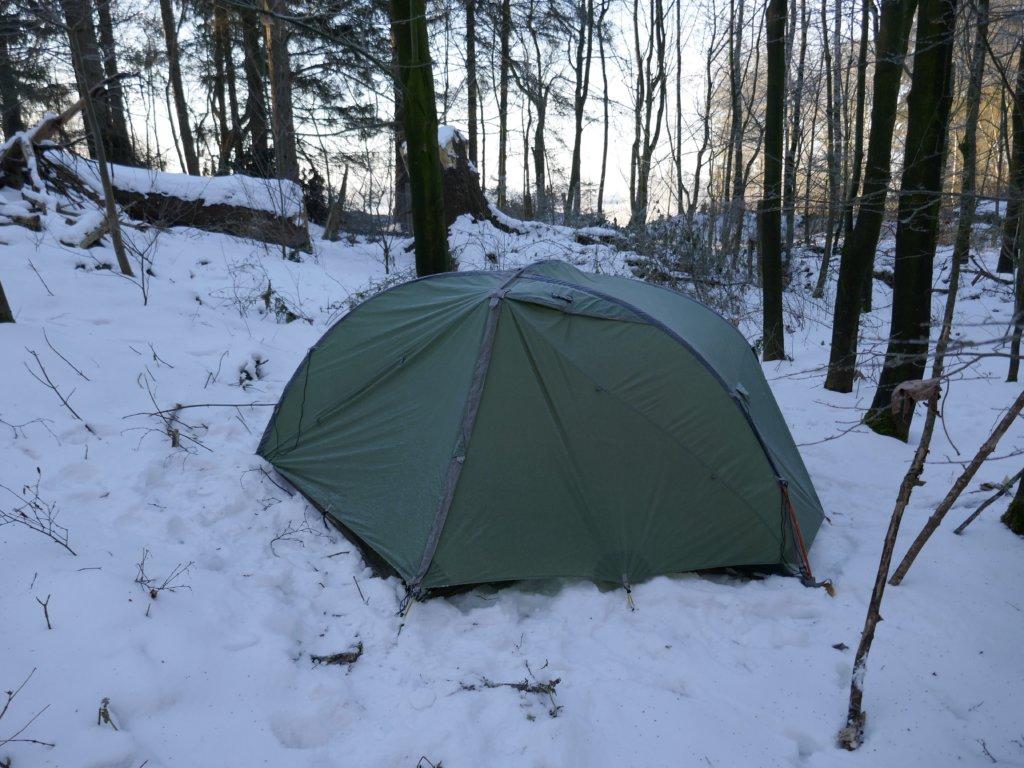 Wildes SH_Enge-Sande_Zelten im Winter