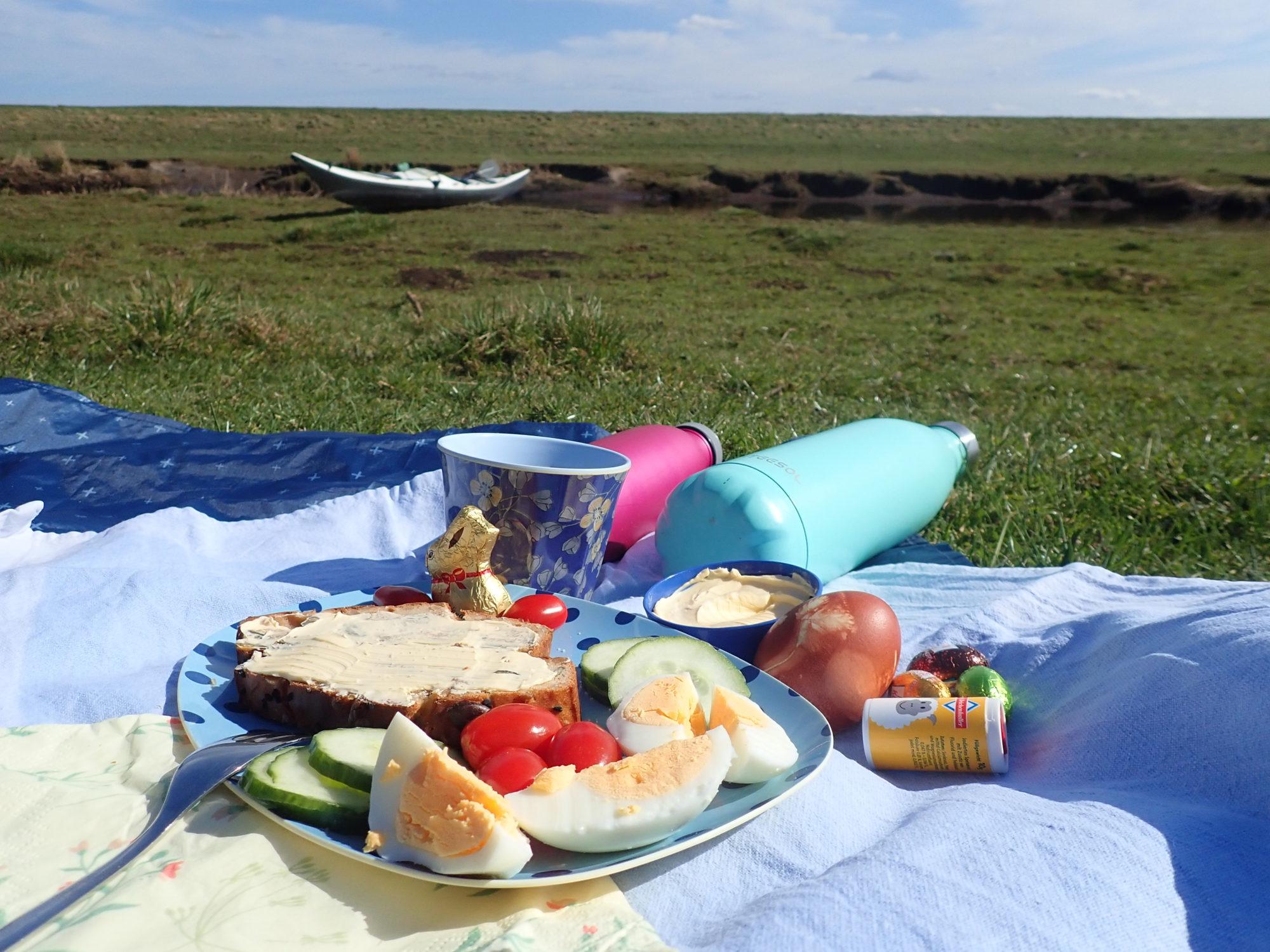 Deich-Picknick an der Lecker Au